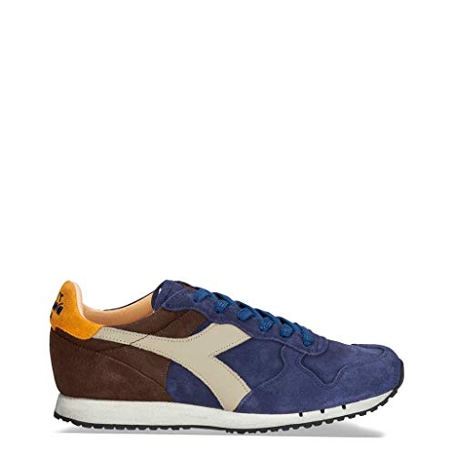 DIADORA scarpe sneaker uomo 201.157664 C7163 trident S SW blu marrone 6baabac63c8