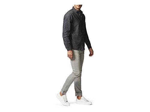 JIMMY CHOO Sneakers da Uomo in Pelle Bianco - Codice Modello: Cash 45 Sml Bianco