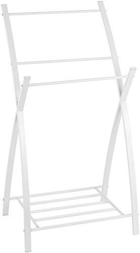 Wenko 22509100 Porte-Serviettes Viva, Acier Inoxydable, Blanc, 46 x 7,5 x 100 cm