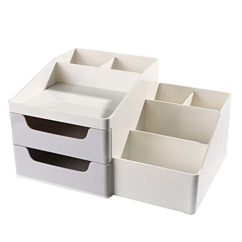 Aini Doppel-Aufbewahrungsbox, Stifthalter Student Desk Aufbewahrungsbox, Office Storage Stifthalter, große Kapazität Pen Barrel (Farbe : Hellblau, größe : 271 * 194 * 145mm) (Größe Weihnachtsschmuck Leben)