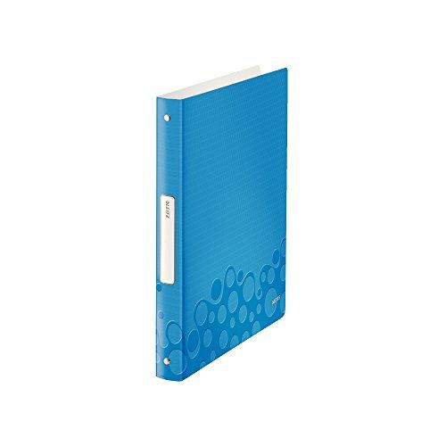 Leitz Classeur 4 Anneaux Souple, Bleu Métallisé, A4, Dos 3,2cm, Diamètre Anneaux 25mm, Polypropylène Léger, WOW, 42580036