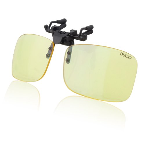 DUCO Computer Gamer Brille Clip On Flip-up Gläser Blaulicht Filter UV Sperrfilter Linderung Digitaler Augenbelastung mit Blendschutz 8013