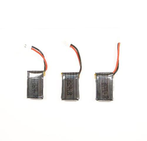 efaso Ersatzteil Hubsan x4 H107 - 3 x Akku 3,7 V 240 mAh - Auch passend für: Simulus GH-4.Mini - 2