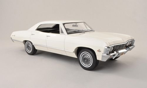 Unbekannt Chevrolet Impala Sport Sedan, Weiss , 1967, Modellauto, Fertigmodell, Greenlight 1:18