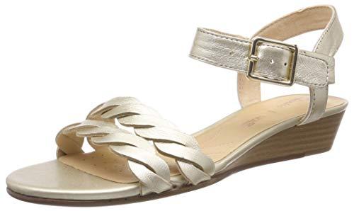 Clarks Mena Blossom, Scarpe con Tacco Donna, Argento (Champagne-), 42 EU