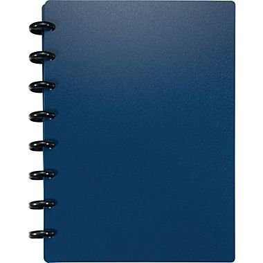Staples Arc Customizable Durable Poly Notebook System Navy 8 5 X 5 5