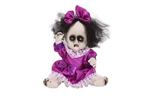 ILOVEFANCYDRESS GRUSELIGE Puppe Baby Skelett Halloween REQUISITENDEKOR
