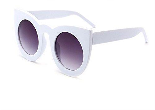 JUNHONGZHANG Cat Eye Sonnenbrille Farbig Gerahmte Sonnenbrille Metall Damen Brille Polarisierte Sonnenbrille, B