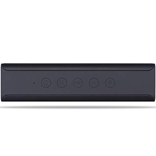 Duminjun Audio Inalámbrico Bluetooth Subwoofer, Mini Portátil Al Aire Libre Portátil, Negro