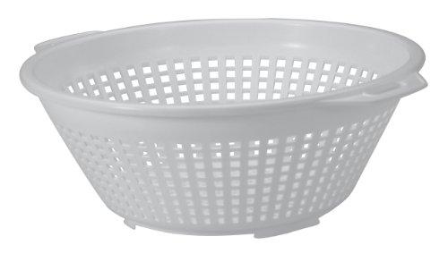 United Lösungen Vier Quart Weiß Kunststoff Sieb in Weiß -4qt Kunststoff Pasta Sieb in Weiß 4 Quart Colander