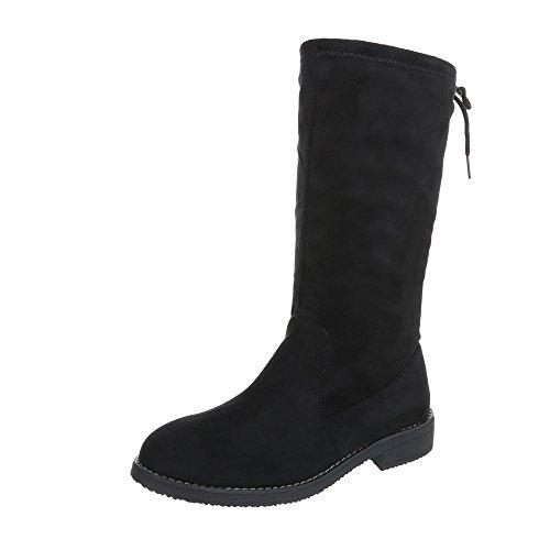 Ital-Design Stiefel & Boots Kinder-Schuhe Klassischer Stiefel Blockabsatz Mädchen Reißverschluss...