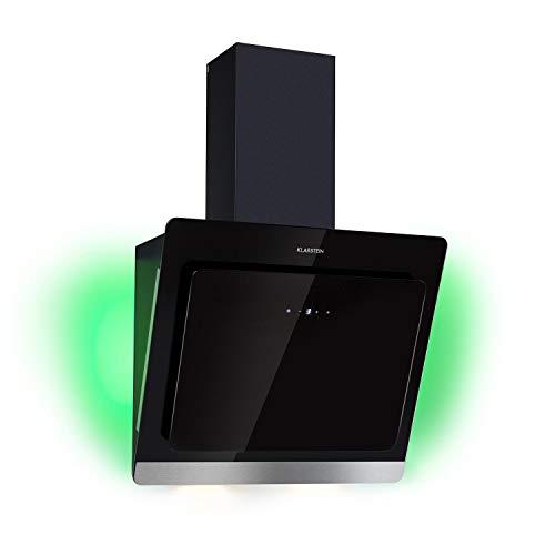 Klarstein Aurora Eco 60 Dunstabzugshaube Umluft & Abluft 60cm 550 m³/h leise kopffrei RGB-Farben schwarz