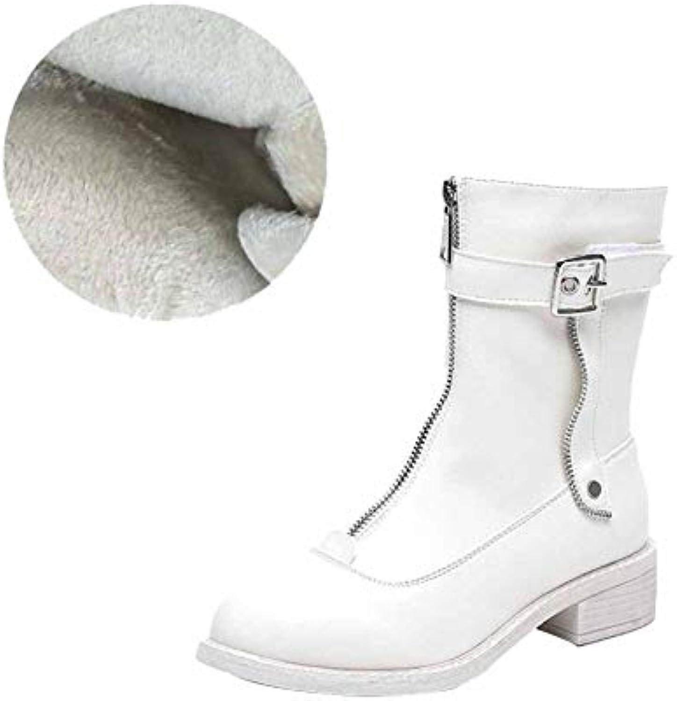 Martin Stivali Work Utility Footwear Winter Plus Velluto Caldo Caldo Caldo Anteriore Zip In Pelle Scarpe Stivaletti In Pelle... | Colore molto buono  | Uomo/Donne Scarpa  c6f555
