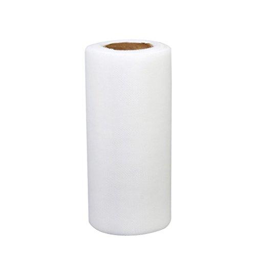 Tinksky Rotolo di 22 * 15cm banchetti nozze Tulle fai da te decorazione Tutu del mestiere (bianco)