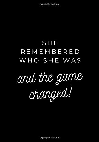 She remembered who she was and the game changes!: Journals for Woman, Daily Notes for Her, Black Paper Notebooks (117 pages, Blank, 7 x 10) (pinky_sunglasses, Band 1)
