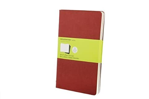 Moleskine Cahier Journal (Set of 3), Large, Plain, Cranberry Red, Soft Cover (5 x 8.25) by Moleskine (2009) Diary