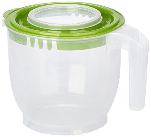 COM-FOUR® Messbecher mit Spritzschutzdeckel, Deckel und Ausgießer - Rührbecher geeignet für Standmixer [Farbauswahl variiert] (1 Stück - Rührbecher 2.2l)