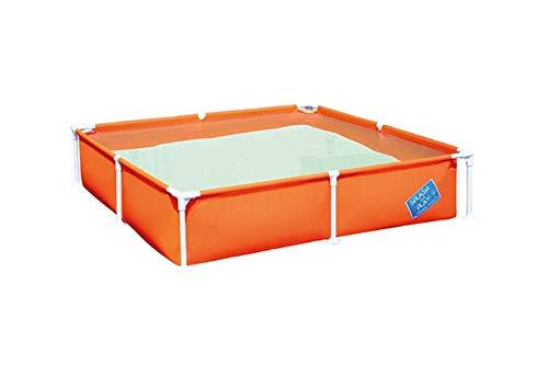 Idealtrend Bestway Planschbecken Frame Pool Quadrat 122x30,5cm Schwimmbecken Schwimmbad: Farbe: Orange