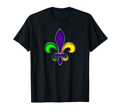 Orleans Kostüm New Karneval - Fleur De Lis Mardi Gras Karneval Fasching Party T-Shirt