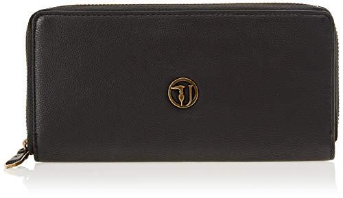 Trussardi Jeans 75W00087-9Y099999, Portafoglio Donna, Nero, 20x9.5x2 cm (W x H x L)