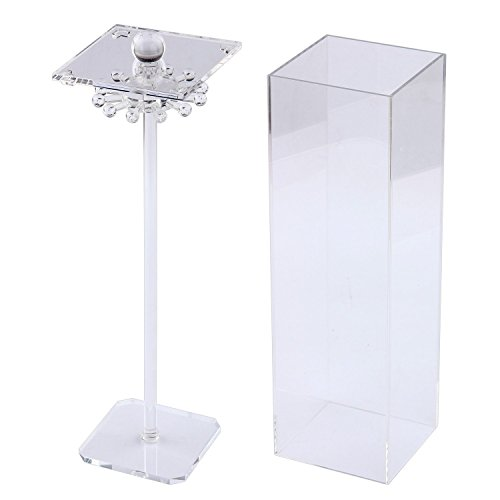 Discoball Clear Acrylic Necklace and Bracelet Storage Case Box