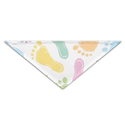 Hectwya Cute Baby Colorful Footprint Printing Mehrfarbige Haustierbandanas für Ihren Hund oder Ihre Katze klein bis mittelgroß (Baby Geschwister Kostüm)