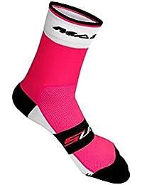 Massi Supra - Calcetines de ciclismo unisex, color fucsia, talla M