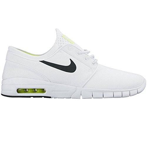 Nike Stefan Janoski Max, Chaussures de Skate Femme Blanco (white/black-volt-white)