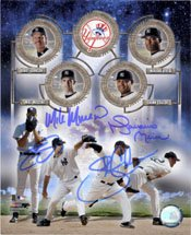 Signed Yankees, New York 8x10 By Randy Johnson, Mike Mussina, Shawn Chacon and Mariano Rivera autographed -