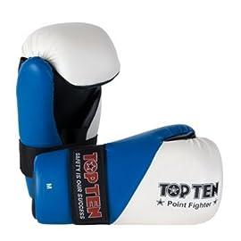 Top TEN pointfighter Kick Boxing Guanti Nero Allenamento Sparring