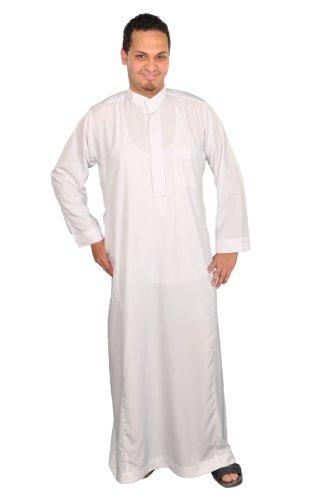 Egypt Bazar Hombre de Caftán Estilo de Arabia, Color Negro o Blanco Weiß XXXXXL