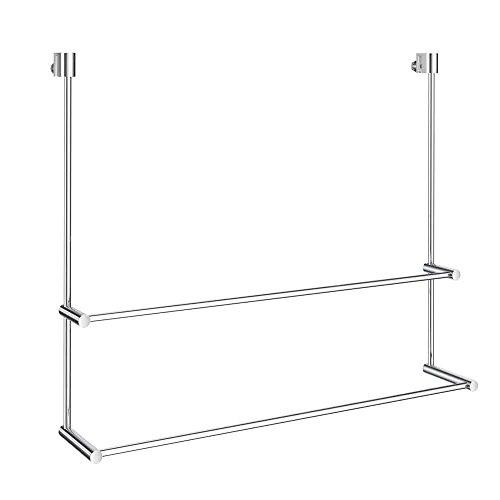 Smedbo Sideline Doppelter Handtuchhalter für Glasduschwand DK3102