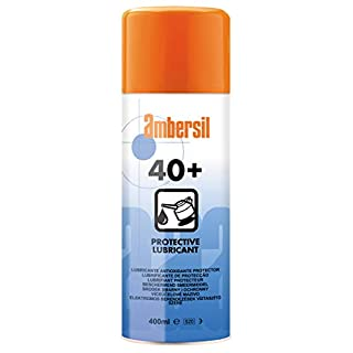 31563-AA AMBERSIL 40+ PROTECTIVE LUBRICANT COMPLETE MAINTENANCE TREATMENT FOR PROTECTION AGAINST CORROSION WATER DISPLACEMENT LUBRICATION AND FLASH RUST REMOVAL 400ML AEROSOL