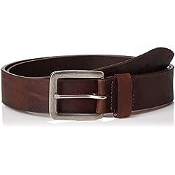 Jack & Jones NOS Jacvictor Leather Belt Noos Cinturón, Marrón Black Coffee, 110 (Talla del fabricante: 95) para Hombre