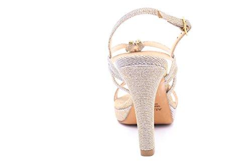 ALBANO , Damen Sandalen weiß Bianco 38 Beige