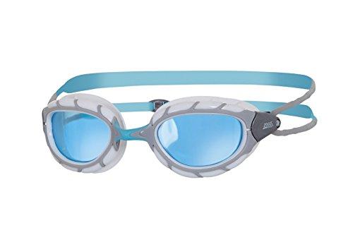 Zoggs Predator–Gafas de natación, todo el año, unisex, color Grey/Blue/Tint, tamaño talla única