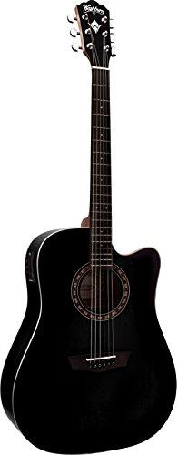 Washburn WD7SCEBM - Wd7s ce bm guitarra electroacustica negra
