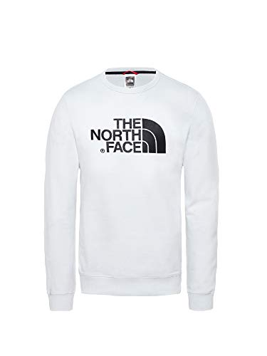 b4ae5b792 The North Face Drew Peak Crew Light - Sudadera Ligera, Hombre, TNF White,