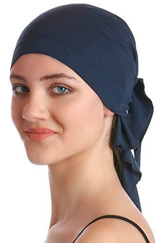 Deresina Headwear Unisex Baumwolle Bandana Fur Haarverlust (Denim) - Männer Schlafen Cap