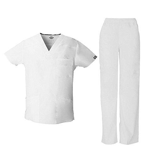 Everyday Scrubs Signature Herren Scrub Set Small Tall White (Tall Herren Scrubs)