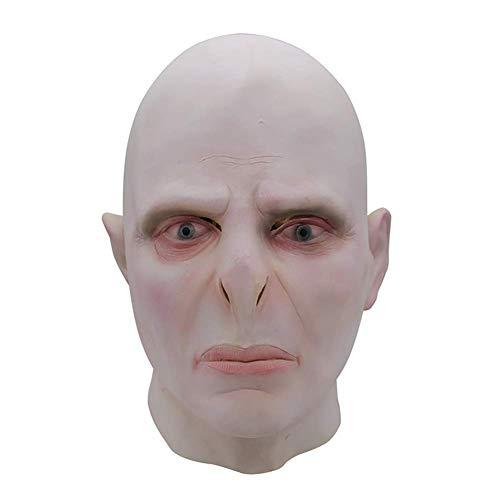 Kostüm Halloween Voldemort - ZQDL Deluxe Latex Voldemort Gesicht Vollkopf Maske Halloween Party Horror Scary Mask Kostüm Requisiten