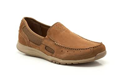 Clarks Men's Ramada Spanish Tan Leather Loafers Mocassins - 10.5 UK