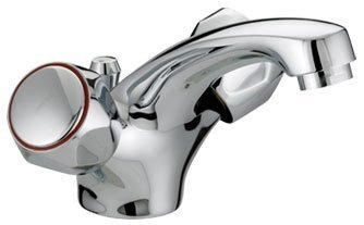 Bristan VAC BAS C MT Chrome Plated Club Mono Basin Mixer with Pop Up Waste and Metal Heads by Bristan