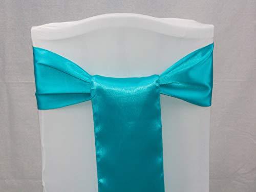 Events n Fabrics Enf 50 Stück Satin Stuhl Band Schleife Hochzeit Bankett-Party Dekoration Sb00-40 Farben SB33 - Teal