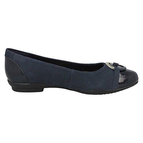 Clarks Neenah Vine, Ballerine Donna Navy (Blue)