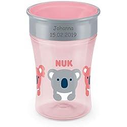 NUK Magic Cup tasse avec gravure personnelle, 230ml, à partir de 8 mois, Koala (rose)
