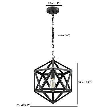 Moderne Kronleuchter Deckenleuchten Anhänger Schmiedeeisen Polyeder Vintage Scheune Metall Anhänger Kronleuchter Industrial Loft 1 Licht Art Deco Cage Lamp 3C Ce Fcc Rohs für Wohnzimmer Schlafzimmer -