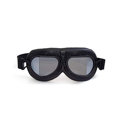 Adisaer Schutzbrille Labor Lokomotivenbrillen Retro Weltkrieg Brillen Lokomotiven Motorradbrillen Sand Proof Schutzbrillen Black Box Black Silver Damen Herren