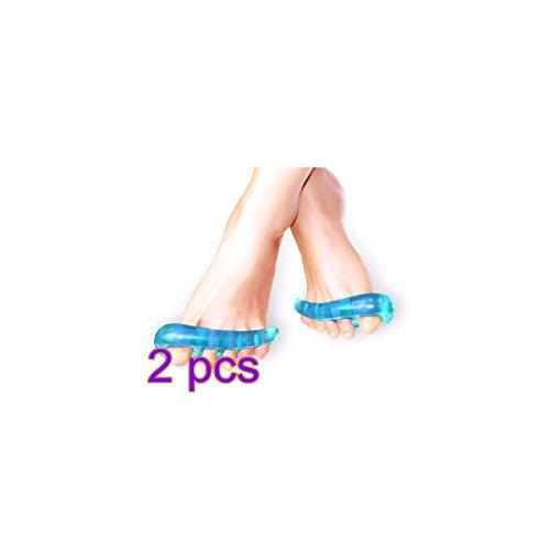 Pixnor Silicone souple magique orteils séparateur orteil orthèses orteils masseur pour hommes femme 2 Pairs