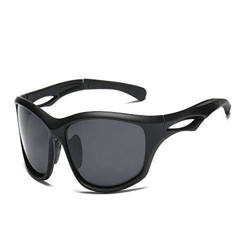 ANSKT Polarisierte Sport-Sonnenbrille - Herren- und Damen-Fahrradbrille - Polarisierter UV400-Schutz - Geeignet für Fahrräder @ 黑框 黑框 灰